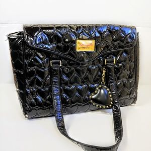 Betseyville By Betsey Johnson Quilted Heart Tote